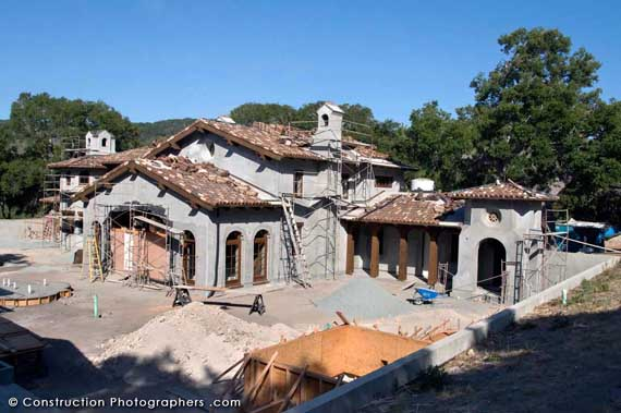 Progress photography at a two-year residential construction project in the historic Santa Lucia Preserve above Monterey Bay.