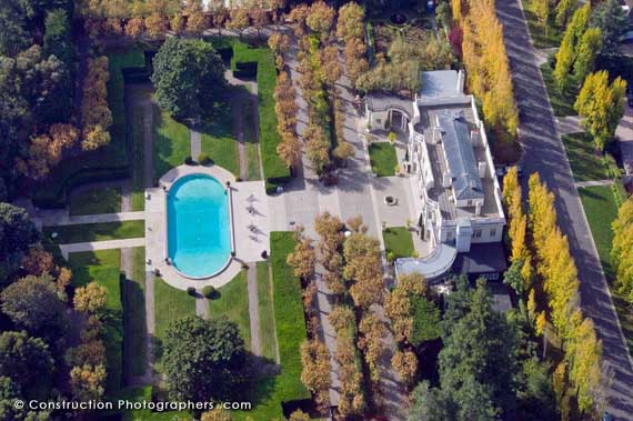 Aerial photos can define the work of a custom home builder.